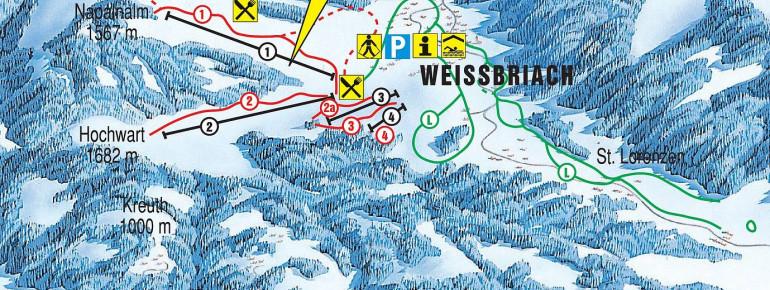 Pistenplan Weissbriach Glitschtal