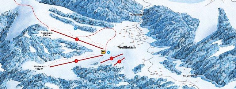Pistenplan Weissbriach Gitschtal