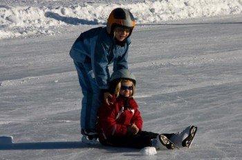 Weissensee ist ein echtes Eldorado für Eisläufer.
