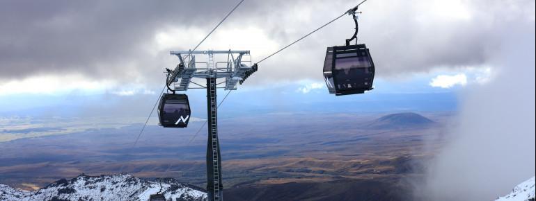 Die neue 10er Gondel Sky Waka führt zum Knoll Ridge Chalet, wo sich auf 2020m das höchstgelegene Restaurant Neuseelands befindet.