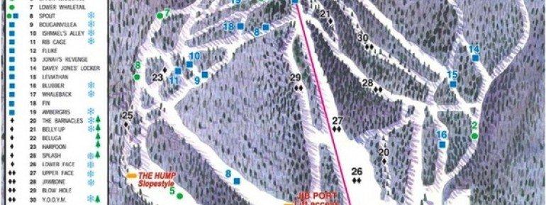 Pistenplan Whaleback Ski Area