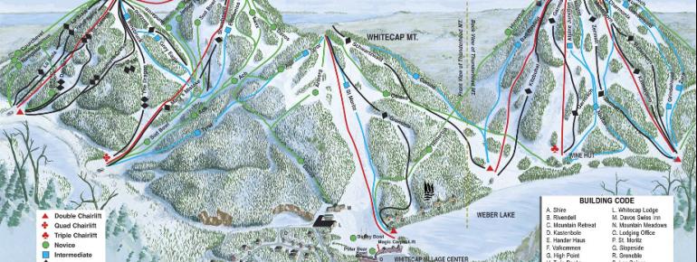 Pistenplan Whitecap Mountains