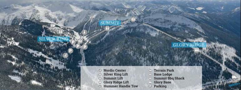 Pistenplan Whitewater Ski Resort