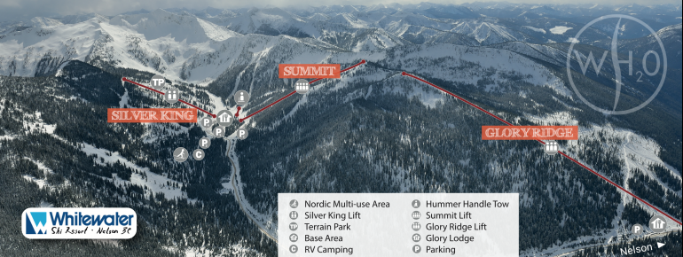 Pistenplan Whitewater Ski Resort