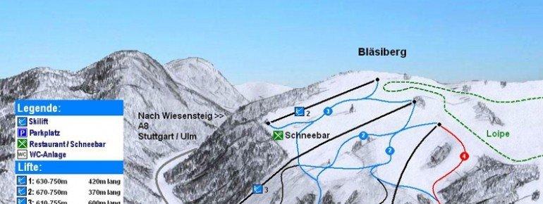 Pistenplan Wiesensteig Bläsiberg