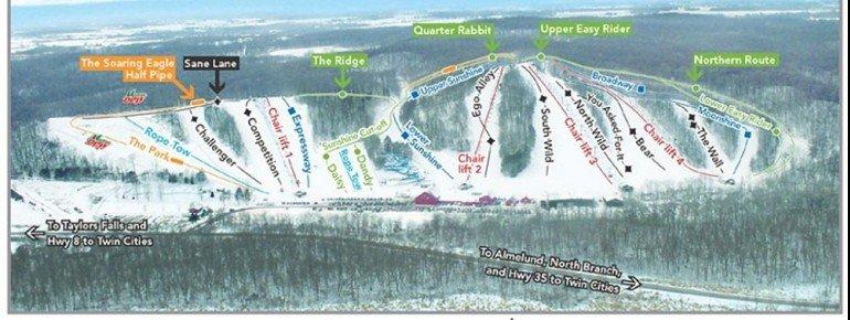 Pistenplan Wild Mountain Ski Area