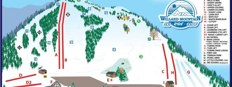 Pistenplan Willard Mountain Ski Area