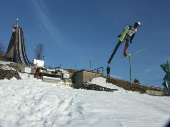 Die Mühlenkopfschanze ist aus dem Weltcup bekannt.