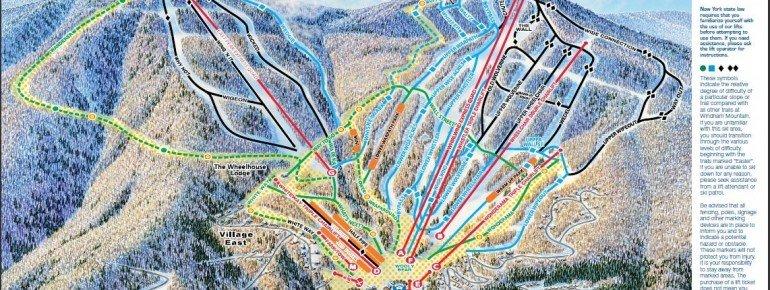 Pistenplan Windham Mountain