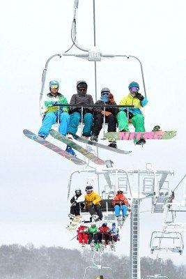 Der Sessellift im Skidorf Neuastenberg