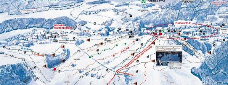 Pistenplan Skidorf Neuastenberg
