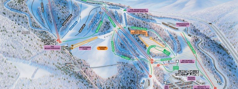 Pistenplan Winterplace Ski Resort