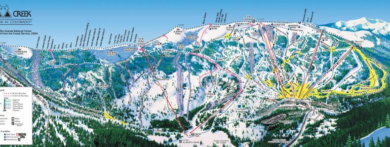 Pistenplan Wolf Creek Ski Area