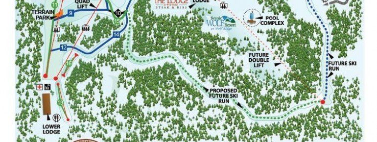 Pistenplan Wolf Ridge Ski Resort