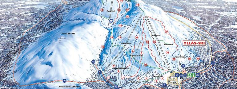 Pistenplan Ylläs Ski