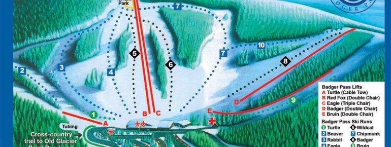 Pistenplan Yosemite Ski & Snowboard Area