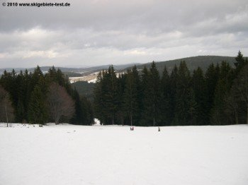 So flach kann ein Skihang sein!
