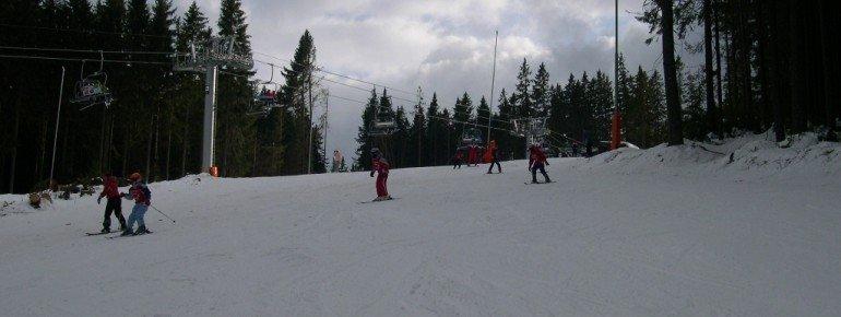 Mit etwas Übung können Kinder praktisch alle Pisten im Skigebiet befahren!