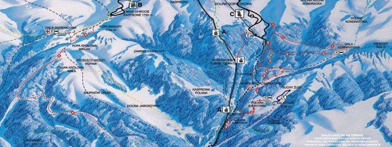 Pistenplan Zakopane - Kasprowy Wierch