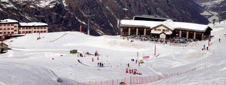 Übungsgelände an der Bergstation Riffelberg