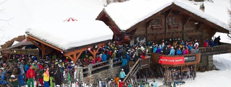 Der Hennu Stall an der Talabfahrt von Furi zurück nach Zermatt