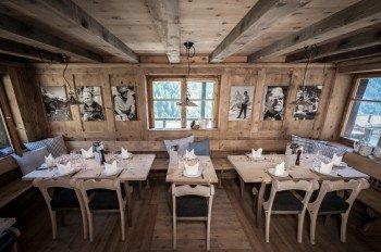 Das Chez Vrony in Findeln von innen