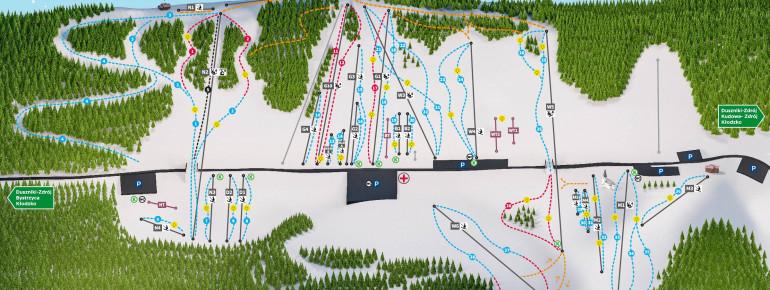 Pistenplan Zieleniec Ski Arena