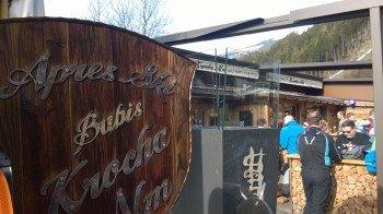 Après-Ski direkt an der Talstation der Rosenalmbahn: Die Krocha Alm