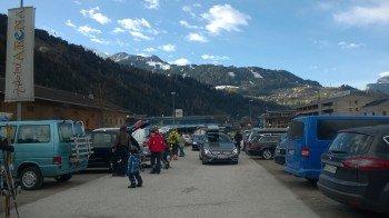 Sehr schön: Große, kostenlose Parkanlagen in direkter Nähe zu den Liften