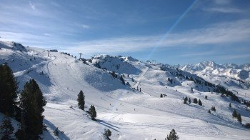 Im oberen Bereich des Skigebiets (hier an der Karspitz) fehlt es meist nicht an Naturschnee
