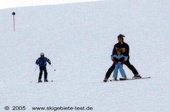 Some slopes still require the help of the parents.