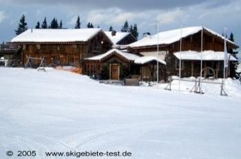 """Without a doubt one of the most beautiful mountain huts in the resort: the so-called """"Alte Schmiede"""" at a height of 5767 ft/ 1758 m"""