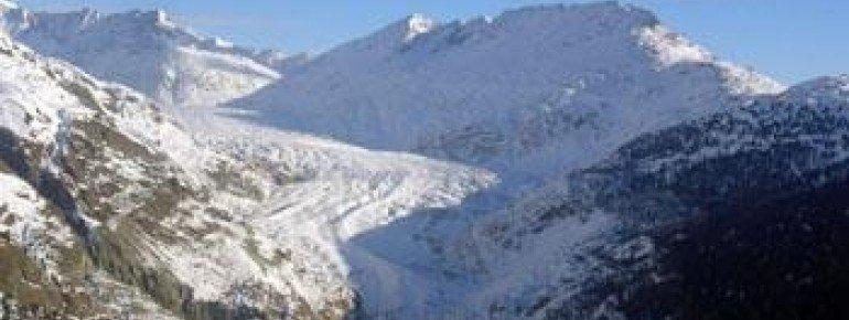 Atemberaubende Aussicht auf den Aletsch-Gletscher!