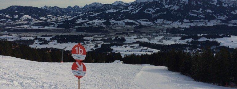 Dank der Verbindung mit Ofterschwang gilt das Skiticket für rund 30 Pistenkilometer