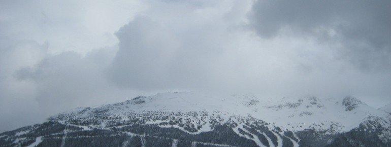 Blick auf Blackcomb von der Bergstation der Whistler Village Gondola!
