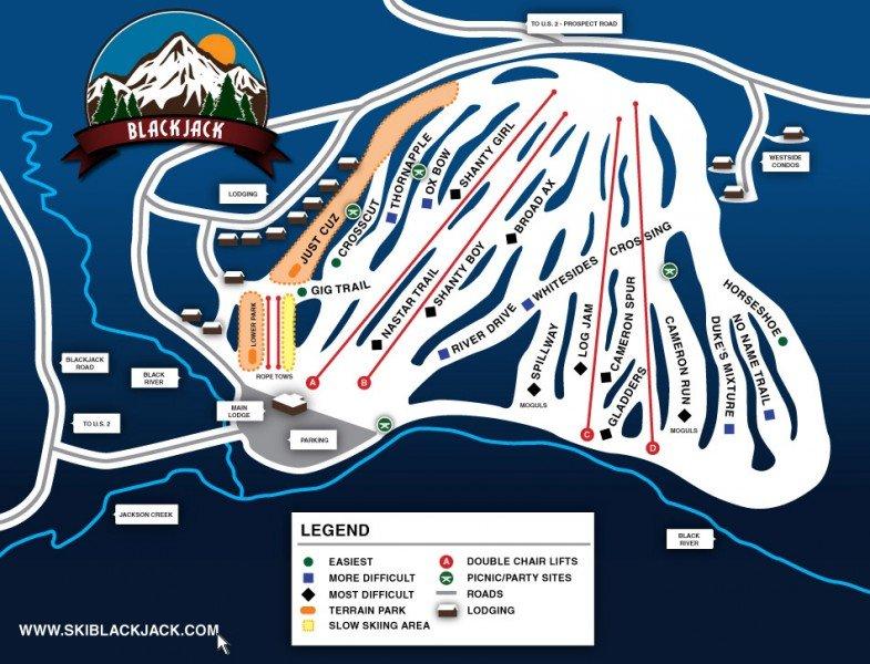 Blackjack ski resort trail map