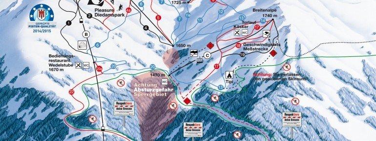 Trail Map Diedamskopf