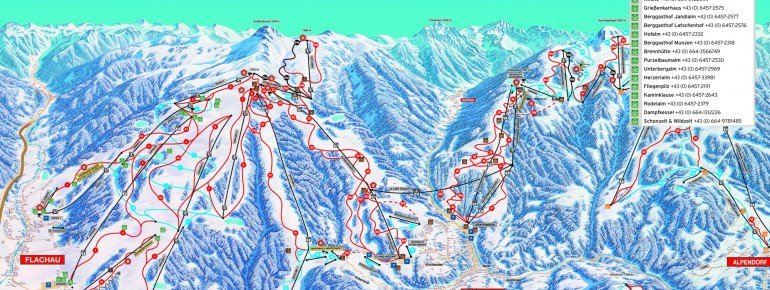 Trail Map Flachau