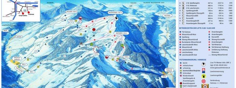 Trail Map Gaissau Hintersee