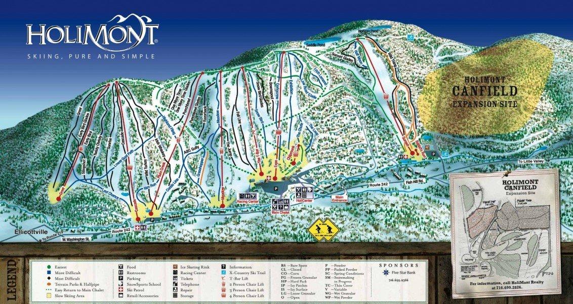 Trail map HoliMont Ski...