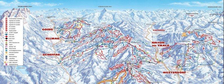 Trail Map Hopfgarten SkiWelt