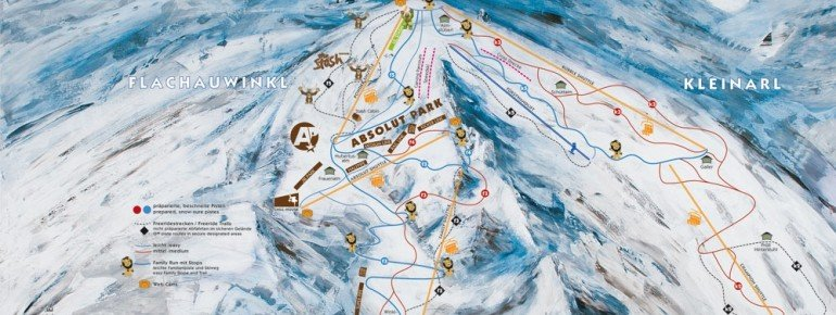 Trail Map Kleinarl Flachauwinkl