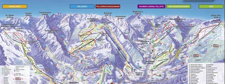 Trail Map Kleinwalsertal