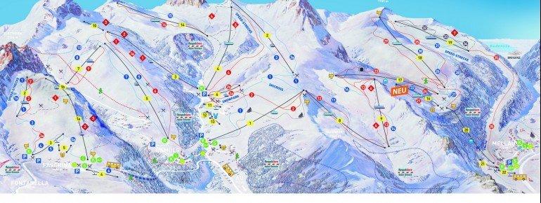 Trail Map Mellau Bergbahnen