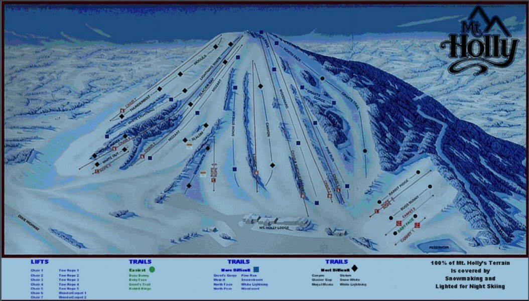 Trail Map Mt Holly Ski Area Panorama
