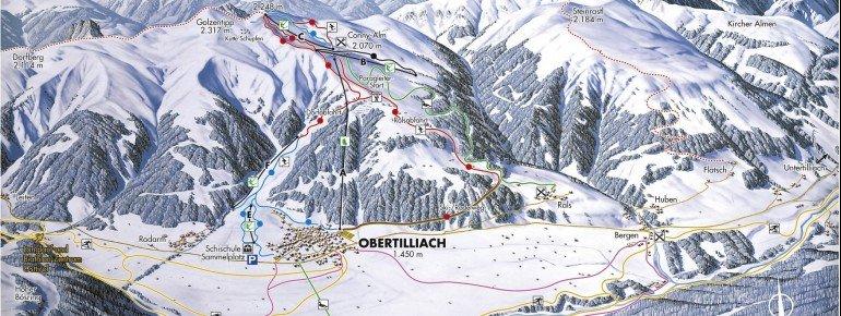 Trail Map Obertilliacher Bergbahnen