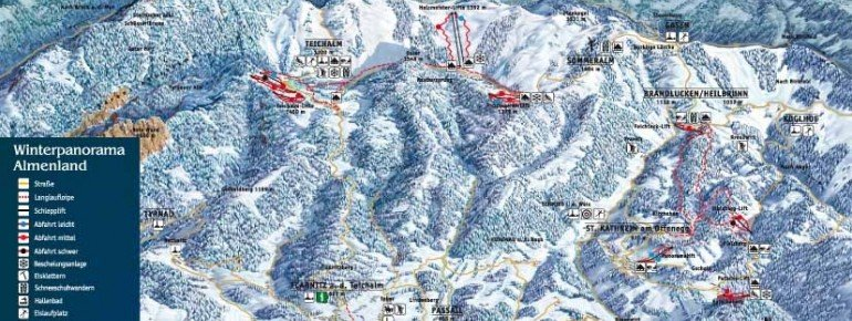 Trail Map Panoramalift Kathrein