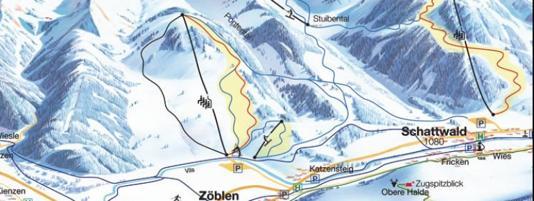 Trail Map Schattwald Zöblen