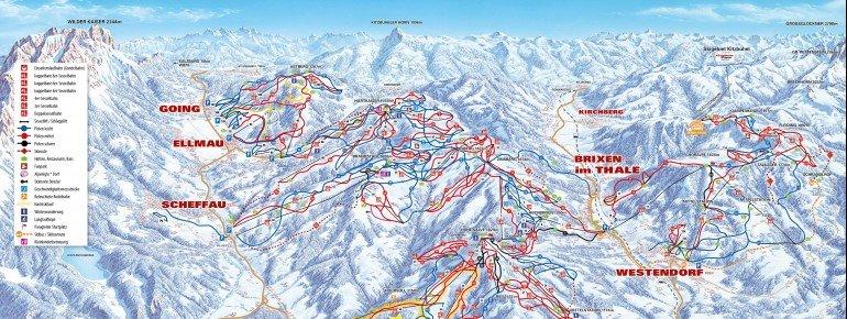 Trail Map Scheffau SkiWelt