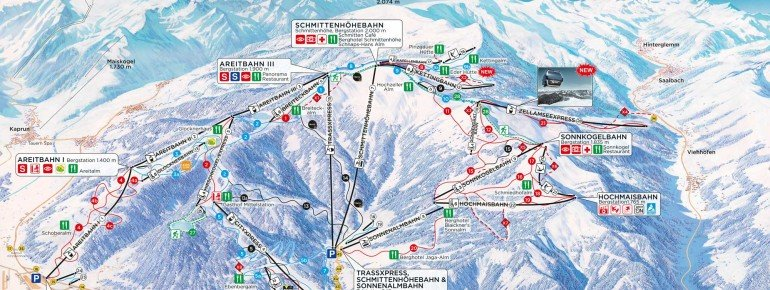 Trail Map Schmittenhöhe